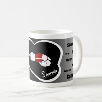 Sharnia's Lips Latvia Mug (Blk Lip)