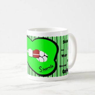Sharnia's Lips Latvia Mug (GREEN Lip)