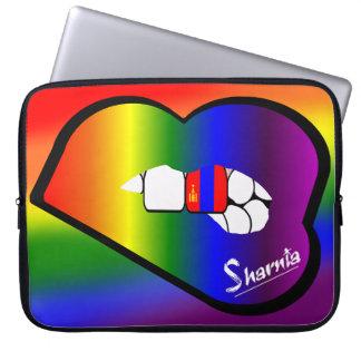 Sharnia's Lips Mongolia Laptop Sleeve Rainbow Lips