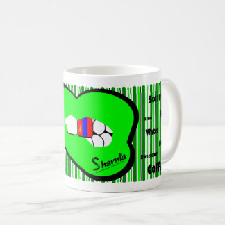 Sharnia's Lips Mongolia Mug (GREEN Lip)