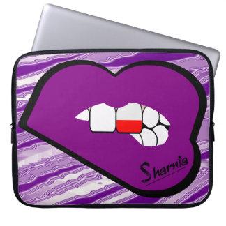 Sharnia's Lips Poland Laptop Sleeve (Purple Lips)