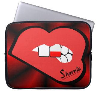 Sharnia's Lips Poland Laptop Sleeve (Red Lips)
