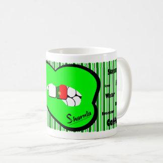 Sharnia's Lips Portugal Mug (GREEN Lip)