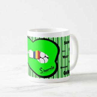 Sharnia's Lips Romania Mug (GREEN Lip)