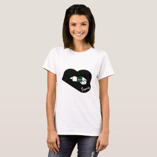 Sharnia's Lips Saudi Arabia T-Shirt (Black Lips)