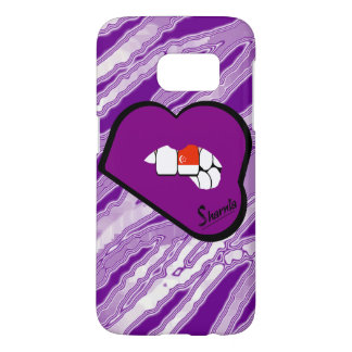 Sharnia's Lips Singapore Mobile Phone Case Pu Lp