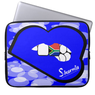 "Sharnia's Lips South Africa Laptop Sleeve 15"" BlLi"