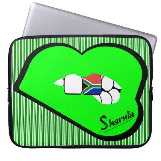 Sharnia's Lips South Africa Laptop Sleeve Grn Lips