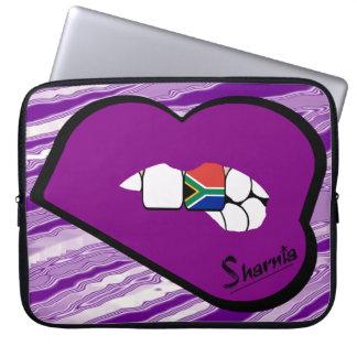 Sharnia's Lips South Africa Laptop Sleeve Prple Lp