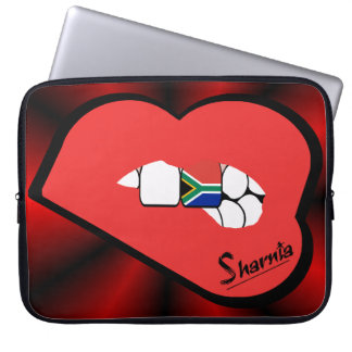 Sharnia's Lips South Africa Laptop Sleeve Red Lip