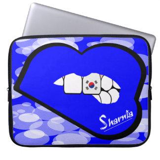 "Sharnia's Lips South Korea Laptop Sleeve 15"" BlLi"