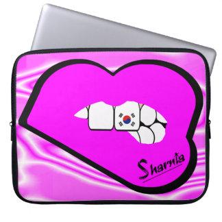Sharnia's Lips South Korea Laptop Sleeve Pink Lips