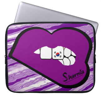 Sharnia's Lips South Korea Laptop Sleeve Prple Lp