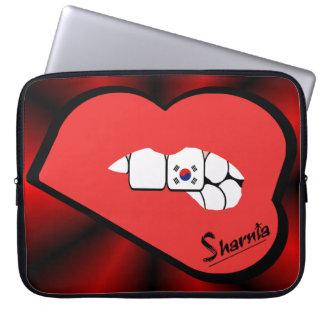 Sharnia's Lips South Korea Laptop Sleeve Red Lips