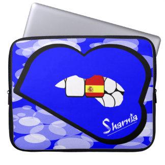 Sharnia's Lips Spain Laptop Sleeve (Blue Lips)