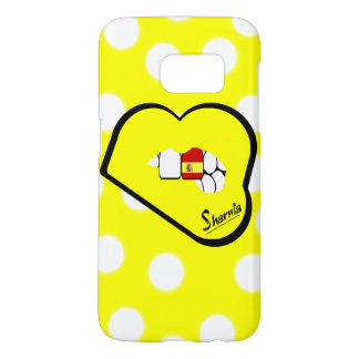 Sharnia's Lips Spain Mobile Phone Case Yel Lp