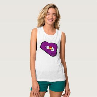Sharnia's Lips Spain Vest (Purple Lips) Tank Top