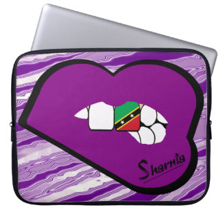Sharnia's Lips St Kitts Laptop Sleeve Purple Lips