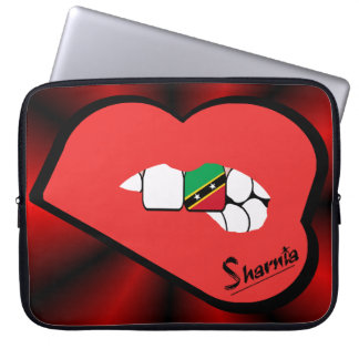 Sharnia's Lips St Kitts Laptop Sleeve (Red Lips)