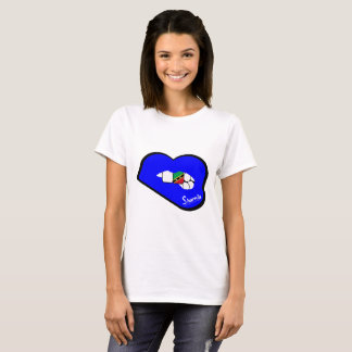 Sharnia's Lips St Kitts T-Shirt (Blue Lips)