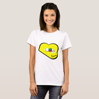 Sharnia's Lips St Kitts T-Shirt (Yellow Lips)