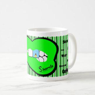 Sharnia's Lips St Lucia Mug (GREEN Lip)