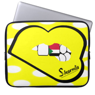 Sharnia's Lips Sudan Laptop Sleeve (Yell Lips)