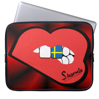 Sharnia's Lips Sweden Laptop Sleeve (Red Lips)