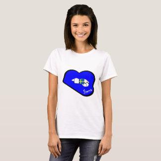 Sharnia's Lips Sweden T-Shirt (Blue Lips)