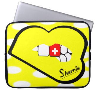 Sharnia's Lips Switzerland Laptop Sleeve Yell Lip