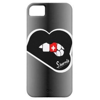 Sharnia's Lips Switzerland Mobile Phone Case Blk L
