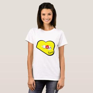 Sharnia's Lips Switzerland T-Shirt (Yellow Lips)