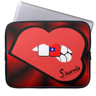 Sharnia's Lips Taiwan Laptop Sleeve (Red Lips)