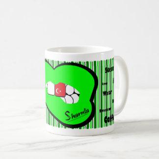 Sharnia's Lips Turkey Mug (GREEN Lip)