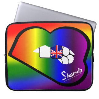 Sharnia's Lips UK Laptop Sleeve (Rainbow Lips)
