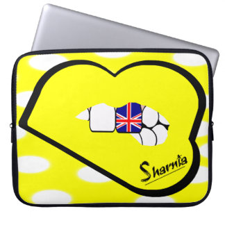 Sharnia's Lips UK Laptop Sleeve (Yell Lips)