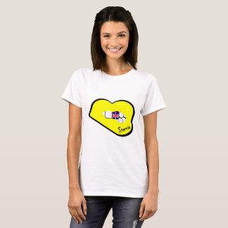 Sharnia's Lips UK T-Shirt (Yellow Lips)