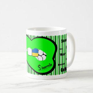 Sharnia's Lips Ukraine Mug (GREEN Lip)