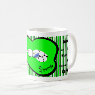 Sharnia's Lips Uruguay Mug (GREEN Lip)