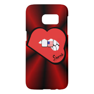 Sharnia's Lips USA Mobile Phone Case (Rd Lips)