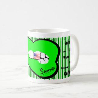 Sharnia's Lips USA Mug (GREEN Lip)