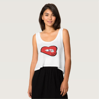 Sharnia's Lips USA Top (Red Lips)