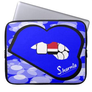 """Sharnia's Lips Yemen Laptop Sleeve 15"""" (Blue Lips)"""