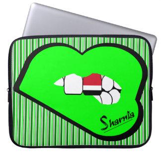 Sharnia's Lips Yemen Laptop Sleeve (Grn Lips)
