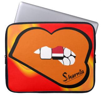 Sharnia's Lips Yemen Laptop Sleeve (Orange Lips)