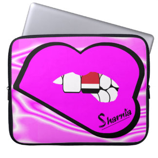 Sharnia's Lips Yemen Laptop Sleeve (Pink Lips)