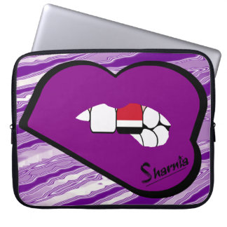 Sharnia's Lips Yemen Laptop Sleeve (Purple Lips)