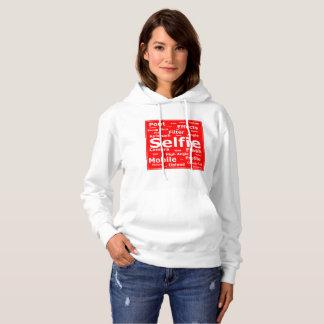 Sharnia's Red 'Selfie' Hooded Sweatshirt