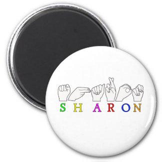 SHARON  ASL FINGERSPELLED NAME SIGN MAGNET