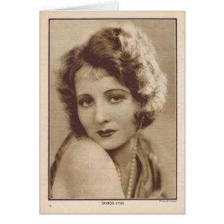 Sharon Lynn vintage portrait Card